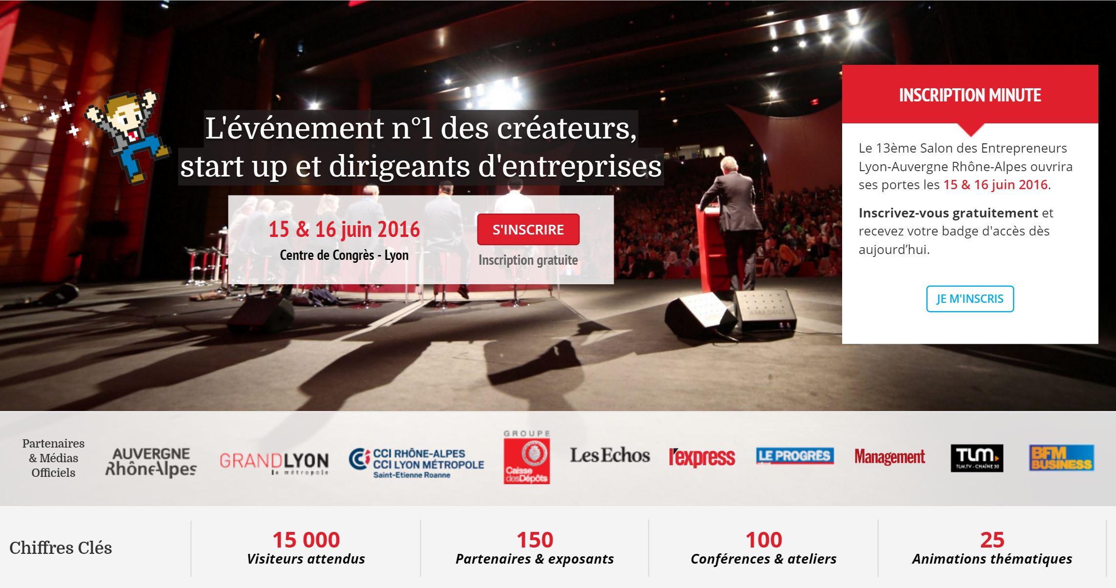 Conf rences du salon des entrepreneurs de lyon 2016 - Salon des franchises lyon ...