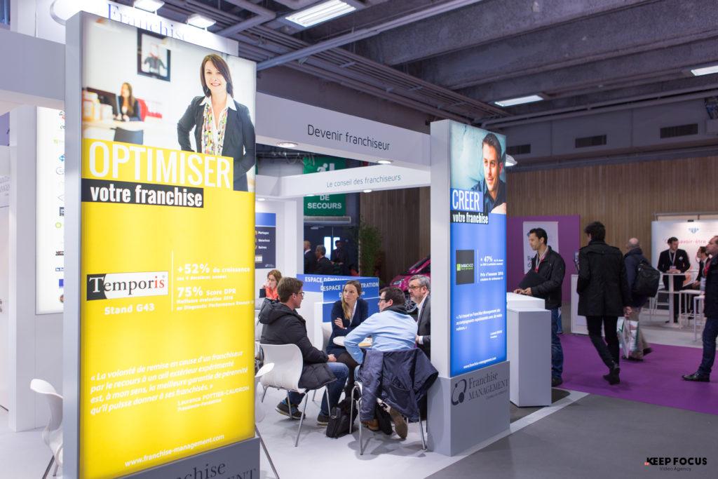 Le stand exposant Franchise Management Franchise Expo Paris - village des experts