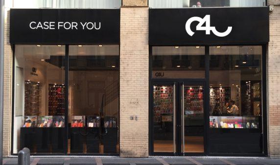 La façade magasin du concept de Franchise Case For You