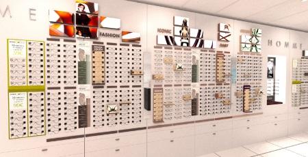 intérieur magasin franchisé GrandOptical