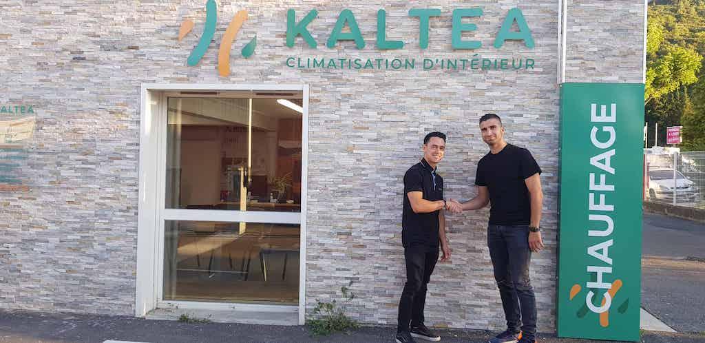 Le Franchiseur Kaltea avec son premier concessionnaire