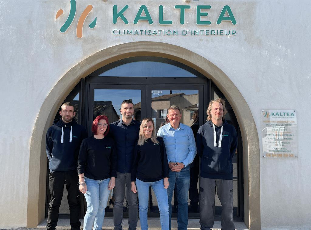 L'équipe KALTEA au sein de l'unité pilote du réseau de concession